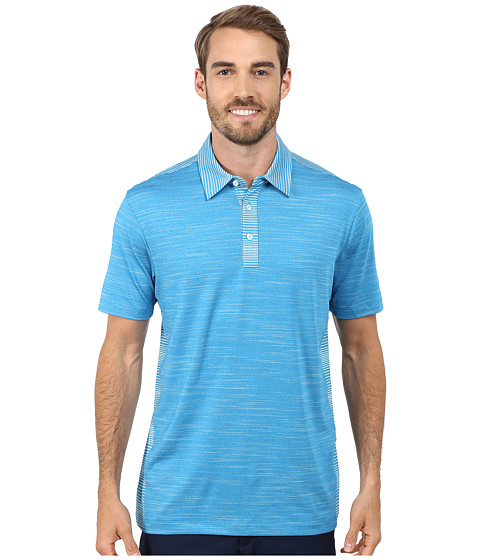 PUMA Golf - Heather Stripe Polo (Cloisonne Heather) Men's Short Sleeve Knit
