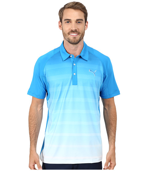 PUMA Golf - Titan Stripe Polo (Cloisonne) Men