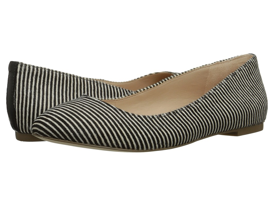 Dr. Scholl's - Vixen - Original Collection (Black/White Striped Pony) Women's Flat Shoes