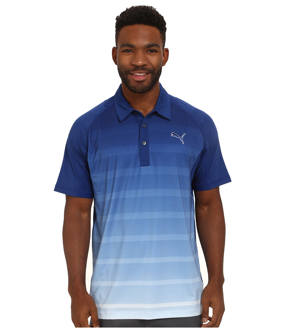 PUMA Golf - Titan Stripe Polo (Titan Stripe Polo) Men's Short Sleeve Knit