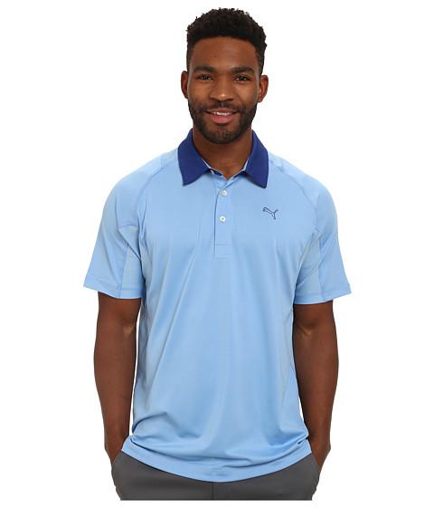 PUMA Golf - Titan Tour Polo (Dellarobbia Blue) Men's Short Sleeve Knit