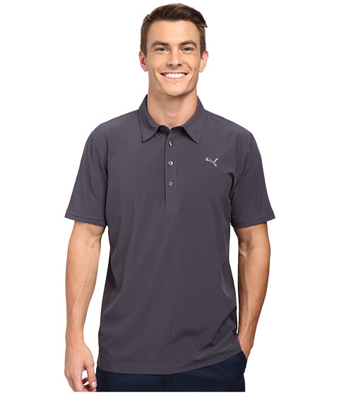 PUMA Golf - Sport Woven Polo (Periscope) Men's Short Sleeve Knit