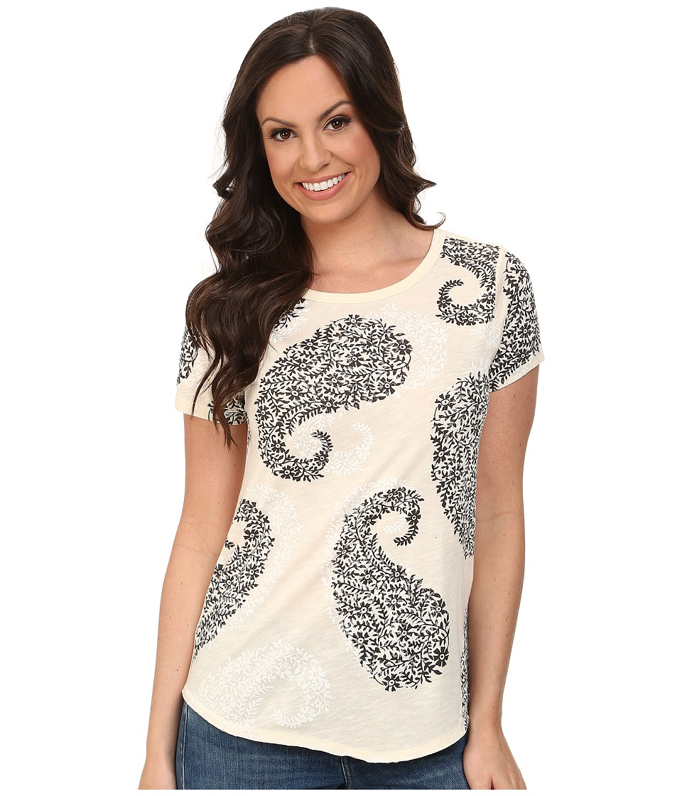 Lucky Brand - Exploded Paisley Tee (Nigori) Women