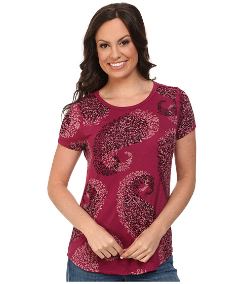 Lucky Brand - Exploded Paisley Tee (Rasberry Radiance) Women's T Shirt