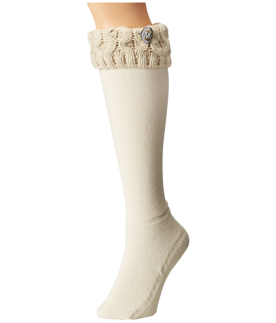MICHAEL Michael Kors - MK Cable Sock (Vanilla Cable Knit Yarn) Women's Low Cut Socks Shoes