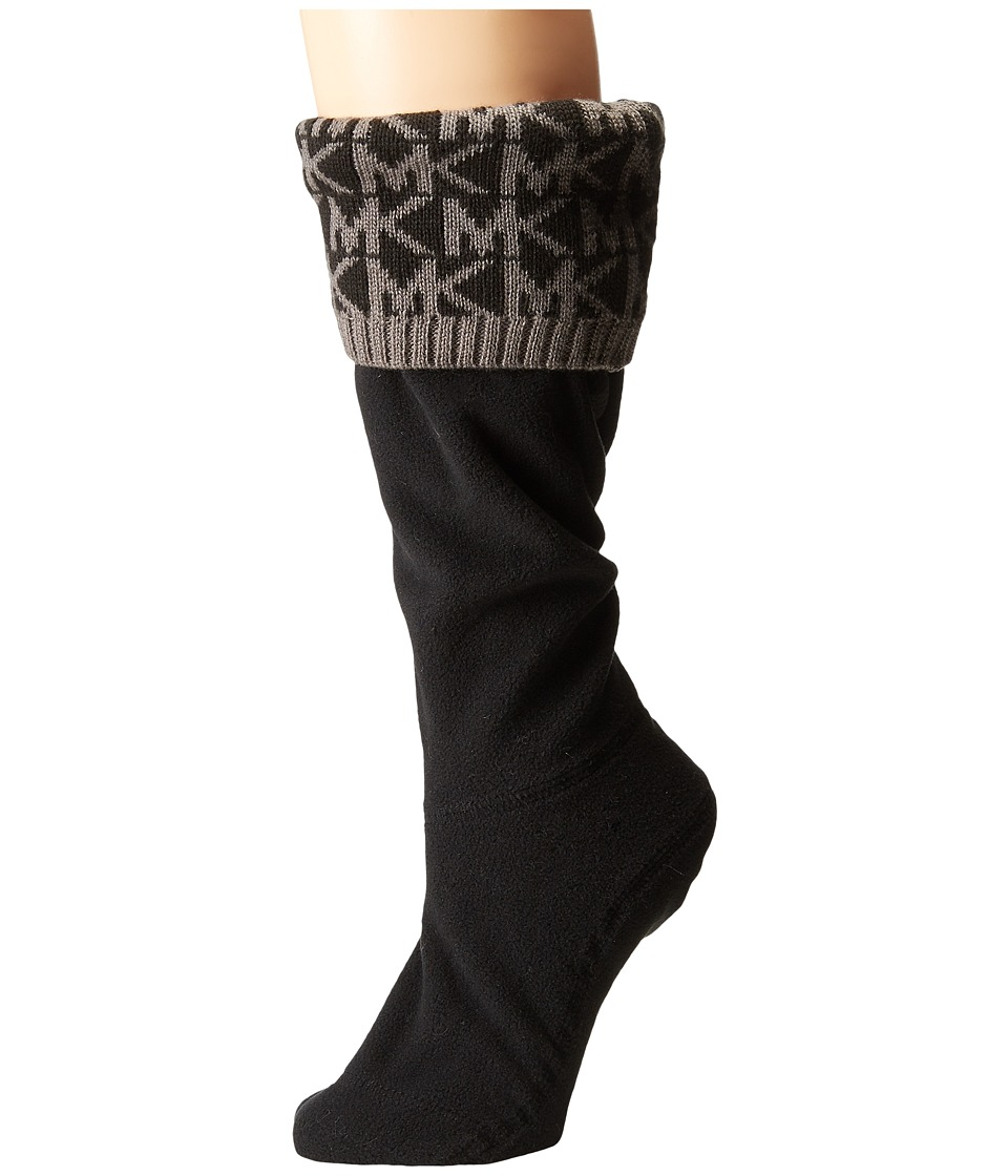 MICHAEL Michael Kors - MK Cuff Sock (Black/Grey Knit Yarn) Women