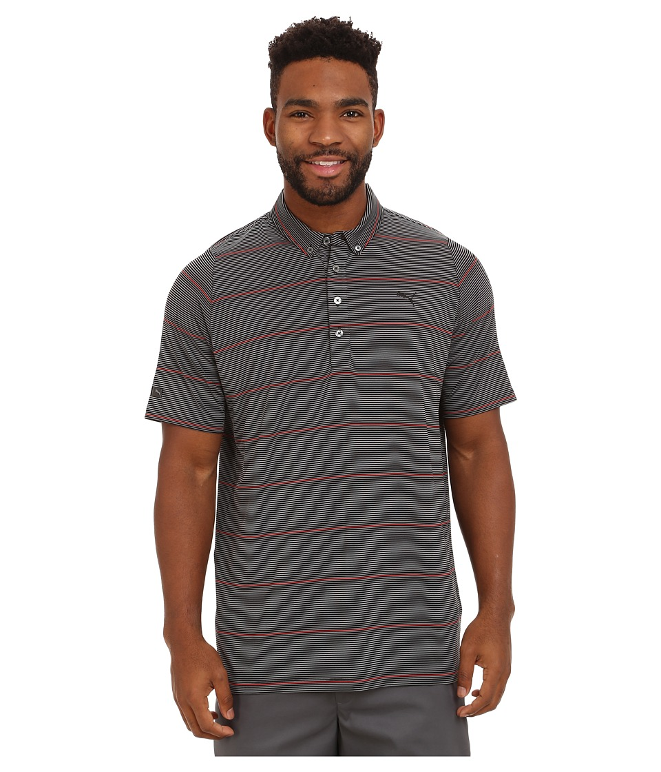 PUMA Golf - Lux YD Stripe Polo (PUMA Black) Men
