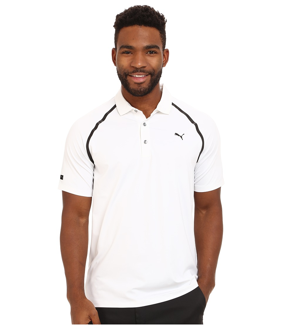 PUMA Golf - Lux Sport Polo (PUMA White) Men