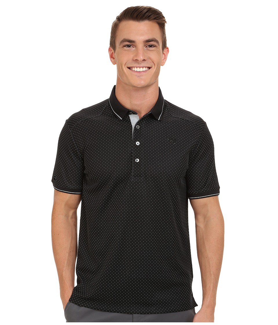 PUMA Golf - Lux Pattern Polo (PUMA Black) Men's Short Sleeve Knit
