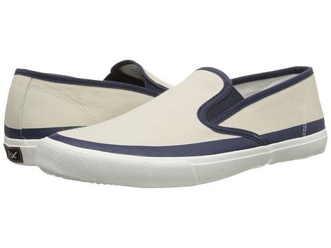GBX - 137466-3 (White/Navy Twill) Men's Slip on Shoes