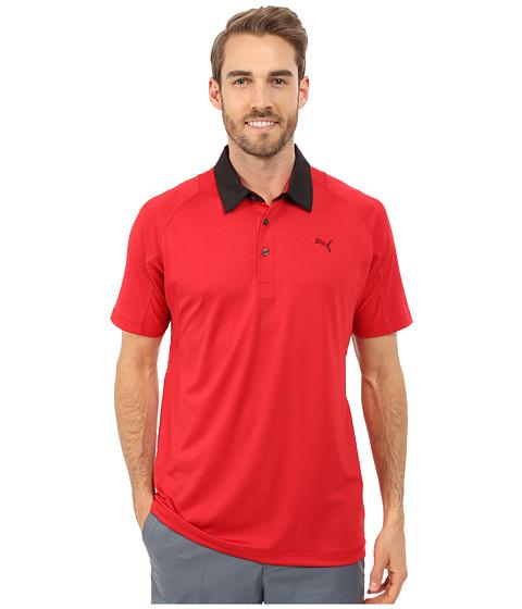 PUMA Golf - Titan Tour Polo (Tango Red) Men