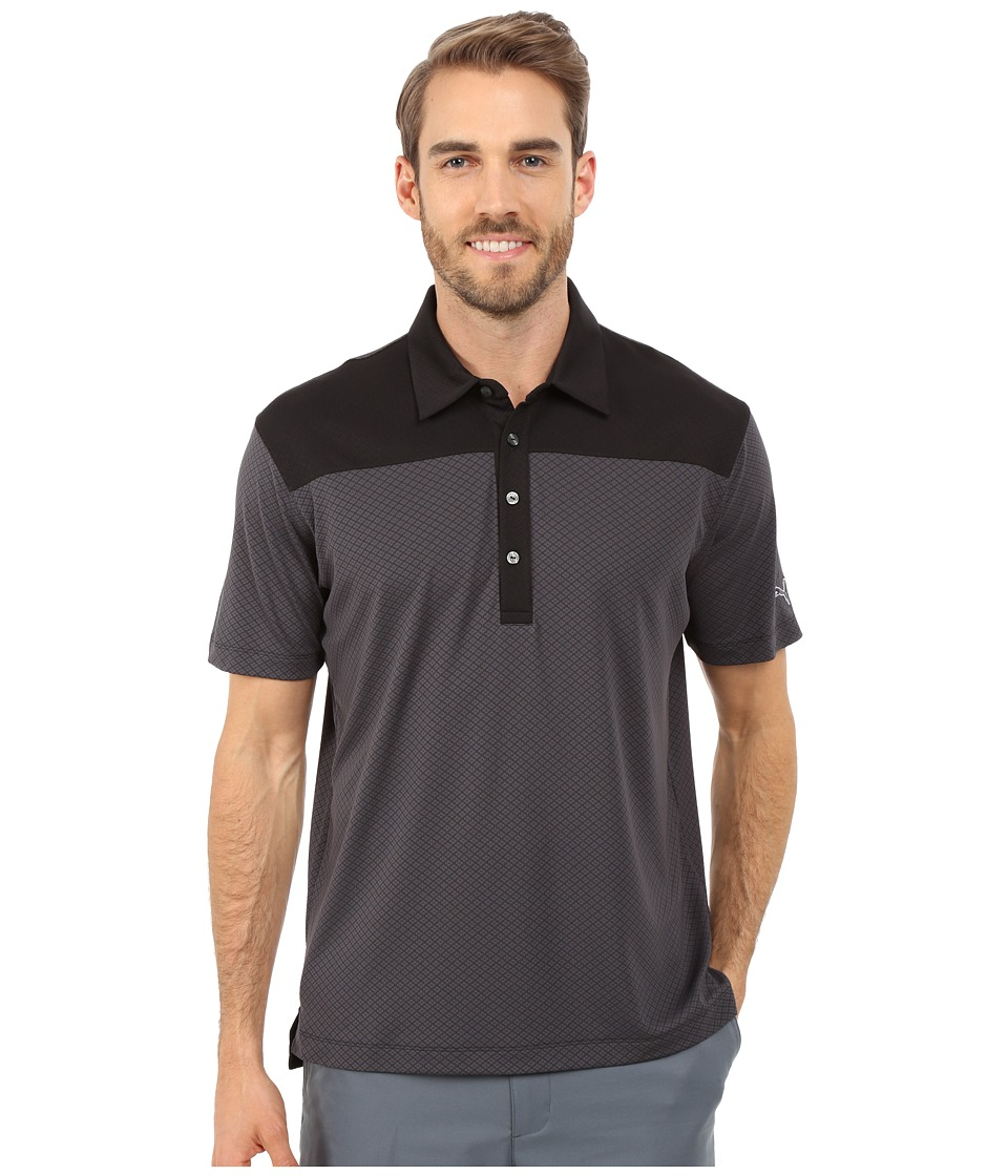 PUMA Golf - Diamond Block Polo (Periscope) Men's Short Sleeve Knit