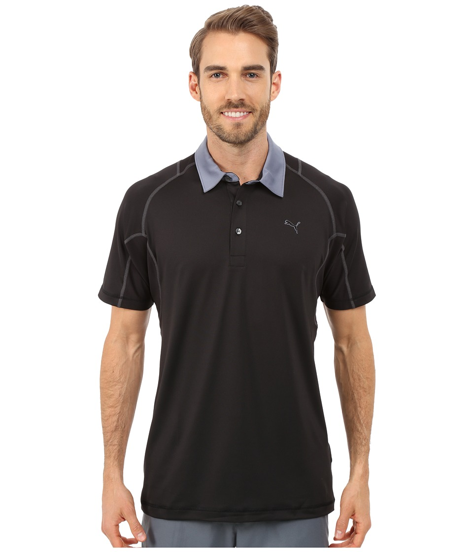 PUMA Golf - Titan Tour Polo (PUMA Black) Men's Short Sleeve Knit