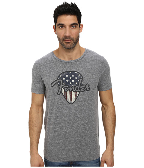 Lucky Brand - Fender USA Pic Graphic Tee (Grey) Men's T Shirt