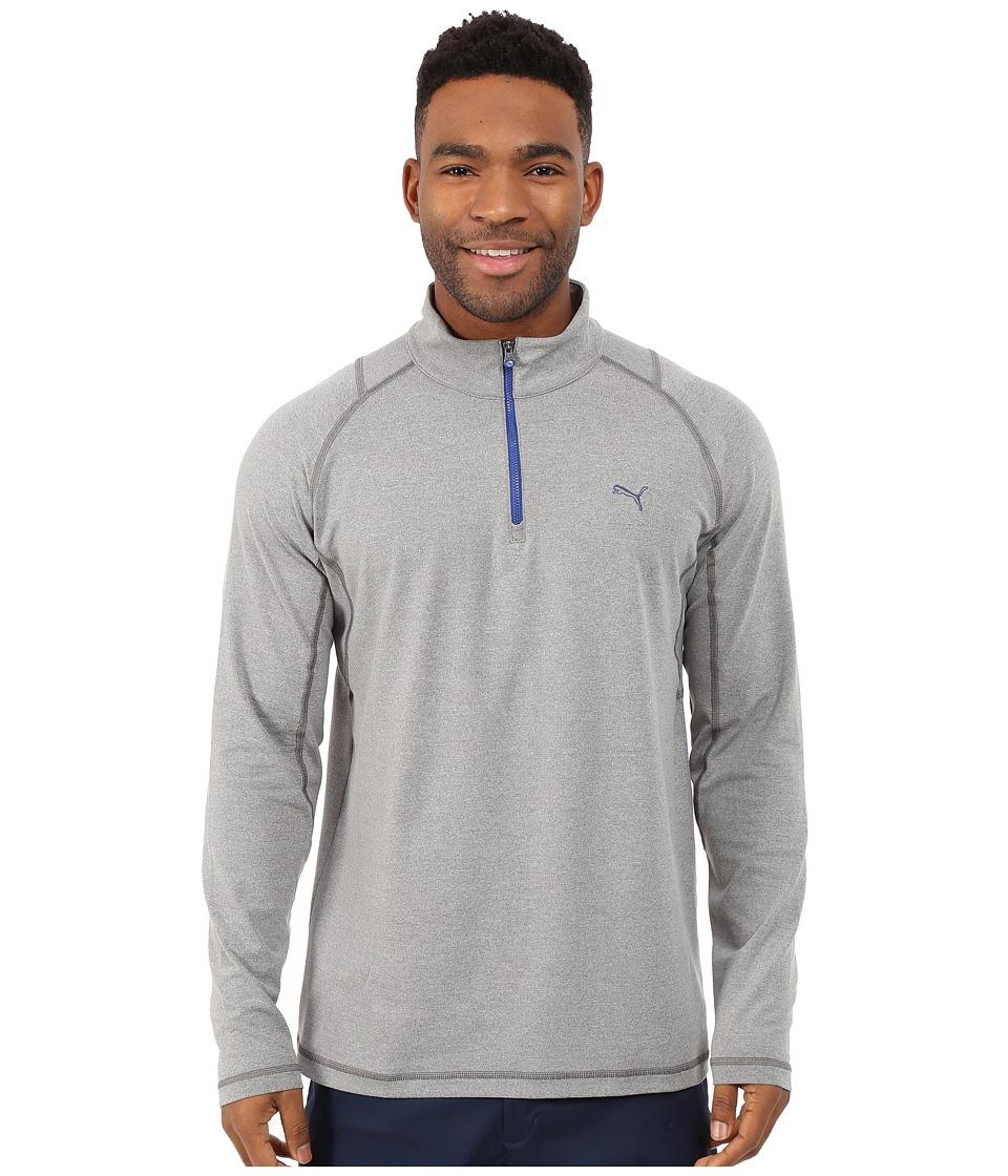 PUMA Golf - Solid 1/4 Zip Popover (Grey) Men