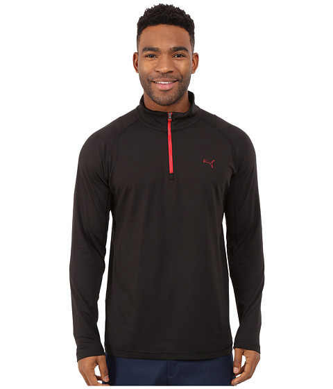 PUMA Golf - Solid 1/4 Zip Popover (Black) Men