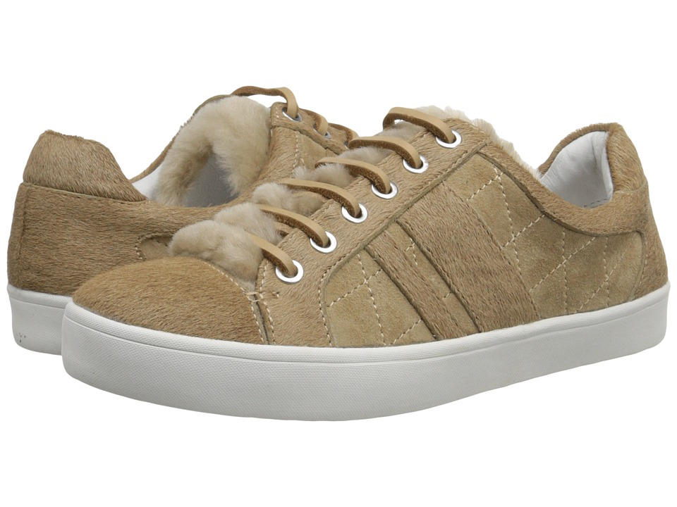 10 Crosby Derek Lam - Lee (Natural Shearling/Camel Wool/Haircalf) Women's Lace up casual Shoes