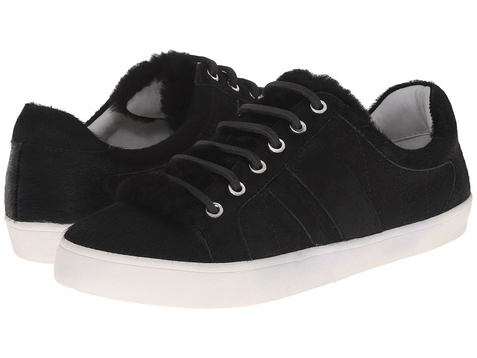 10 Crosby Derek Lam - Lee (Black Shearling/Wool/Haircalf) Women's Lace up casual Shoes