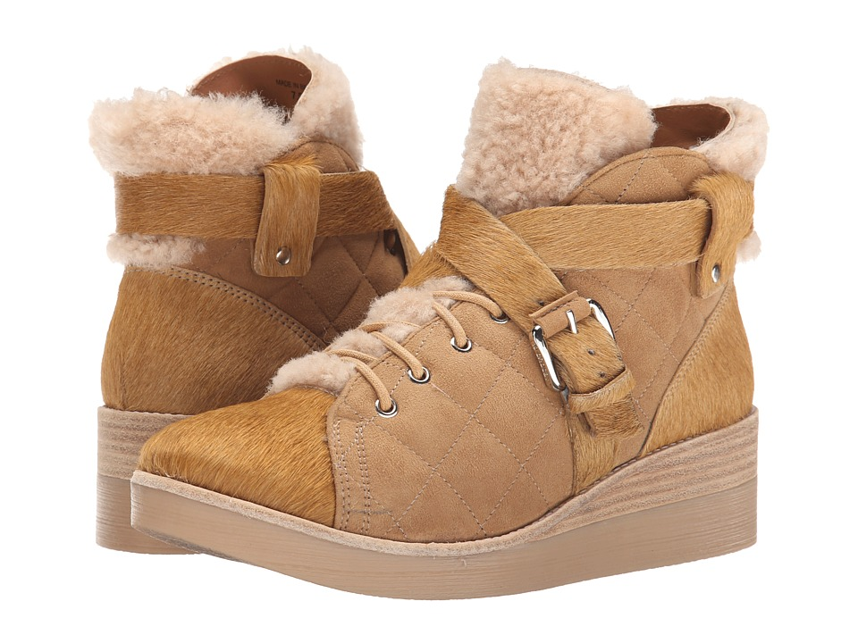10 Crosby Derek Lam - Elsa (Natural Shearling/Camel Suede/Haircalf) Women