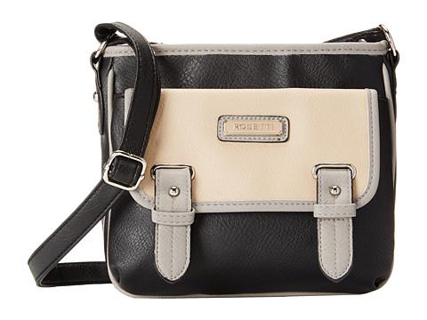 Rosetti - Hayden Triple Play Crossbody (Black Color Block) Cross Body Handbags