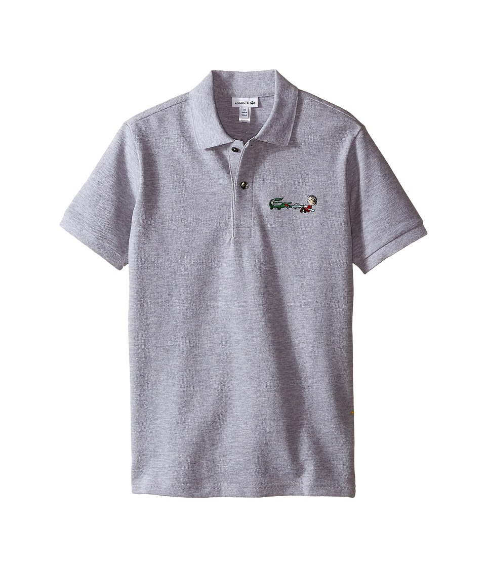 Lacoste Kids - Peanuts Linus Polo (Toddler/Little Kids/Big Kids) (Silver Grey Chine) Boy's Clothing