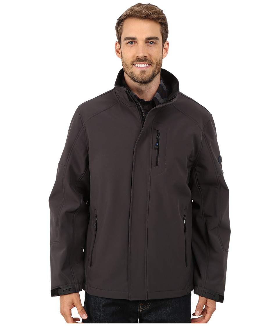 Calvin Klein - Soft Shell Open Bottom Jacket (Smoke) Men's Coat