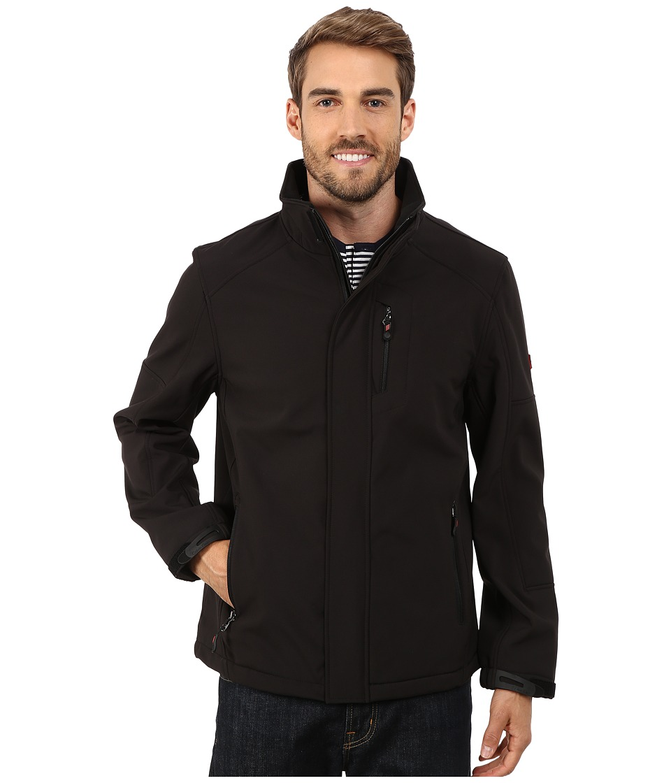 Calvin Klein - Soft Shell Open Bottom Jacket (Black) Men's Coat