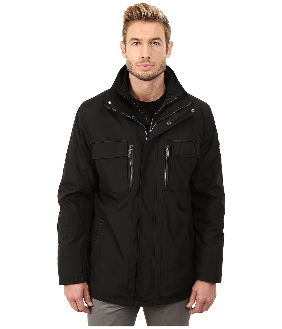 Calvin Klein - Poly Jacket with Bib (Black) Men's Coat