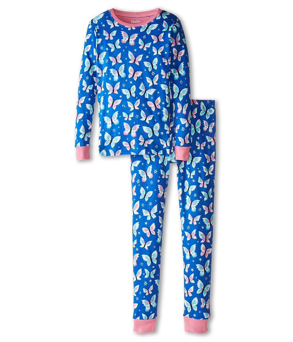 Hatley Kids - Icy Butterflies PJ Set (Toddler/Little Kids/Big Kids) (Blue) Girl's Pajama Sets