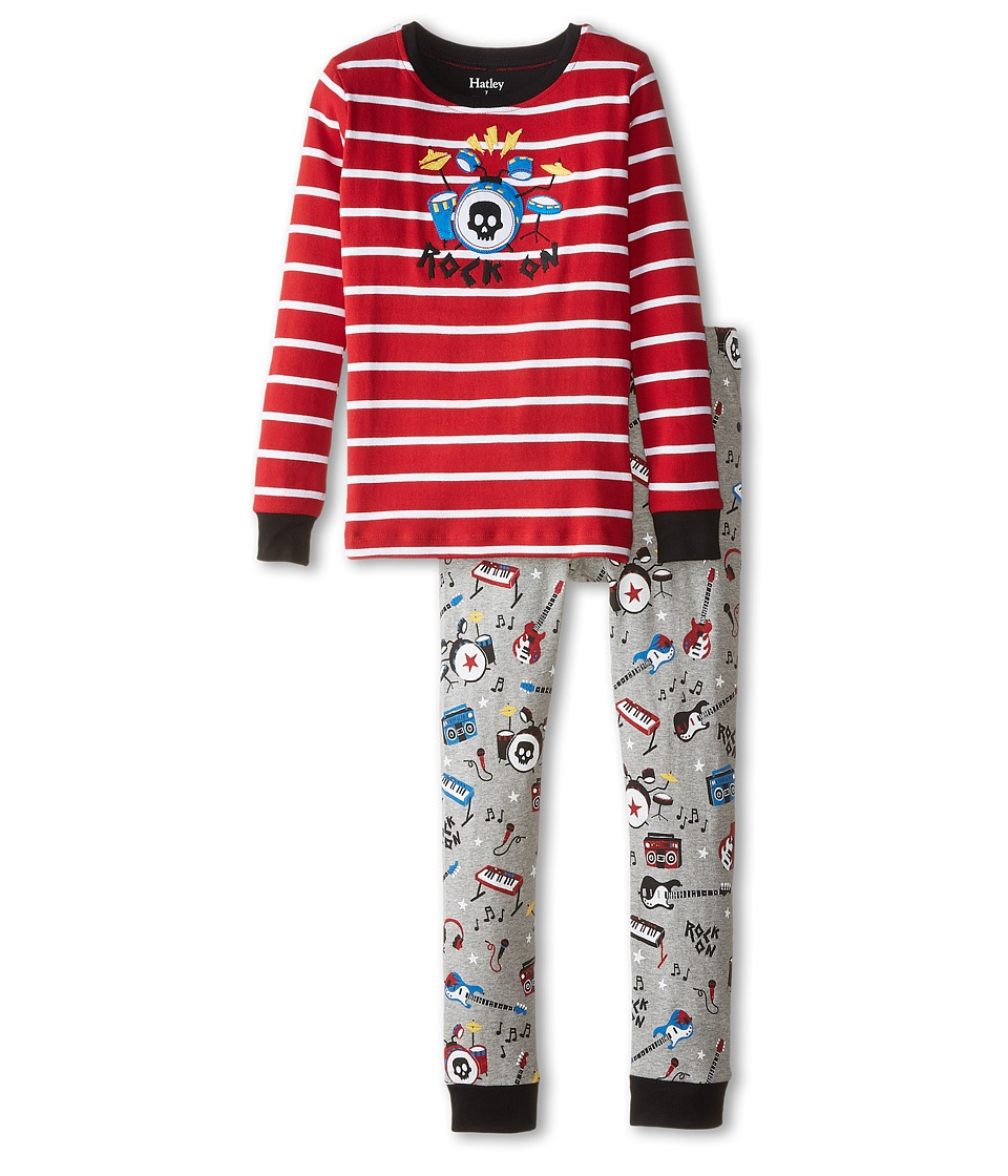 Hatley Kids - Rock Band PJ Set (Toddler/Little Kids/Big Kids) (Red) Boy's Pajama Sets