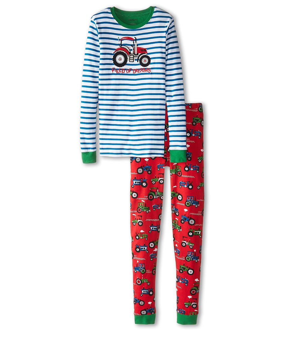 Hatley Kids - Farm Tractors PJ Set (Toddler/Little Kids/Big Kids) (Multi) Boy's Pajama Sets