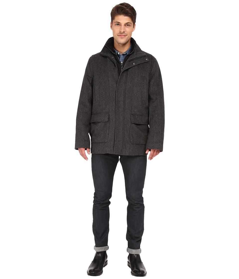 Calvin Klein - Stadium Novelty Wool Jacket (Medium Grey) Men's Coat plus size,  plus size fashion plus size appare