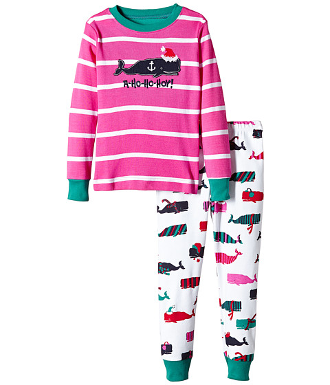 Hatley Kids - Scarf Whales PJ Set (Toddler/Little Kids/Big Kids) (Multi) Girl's Pajama Sets
