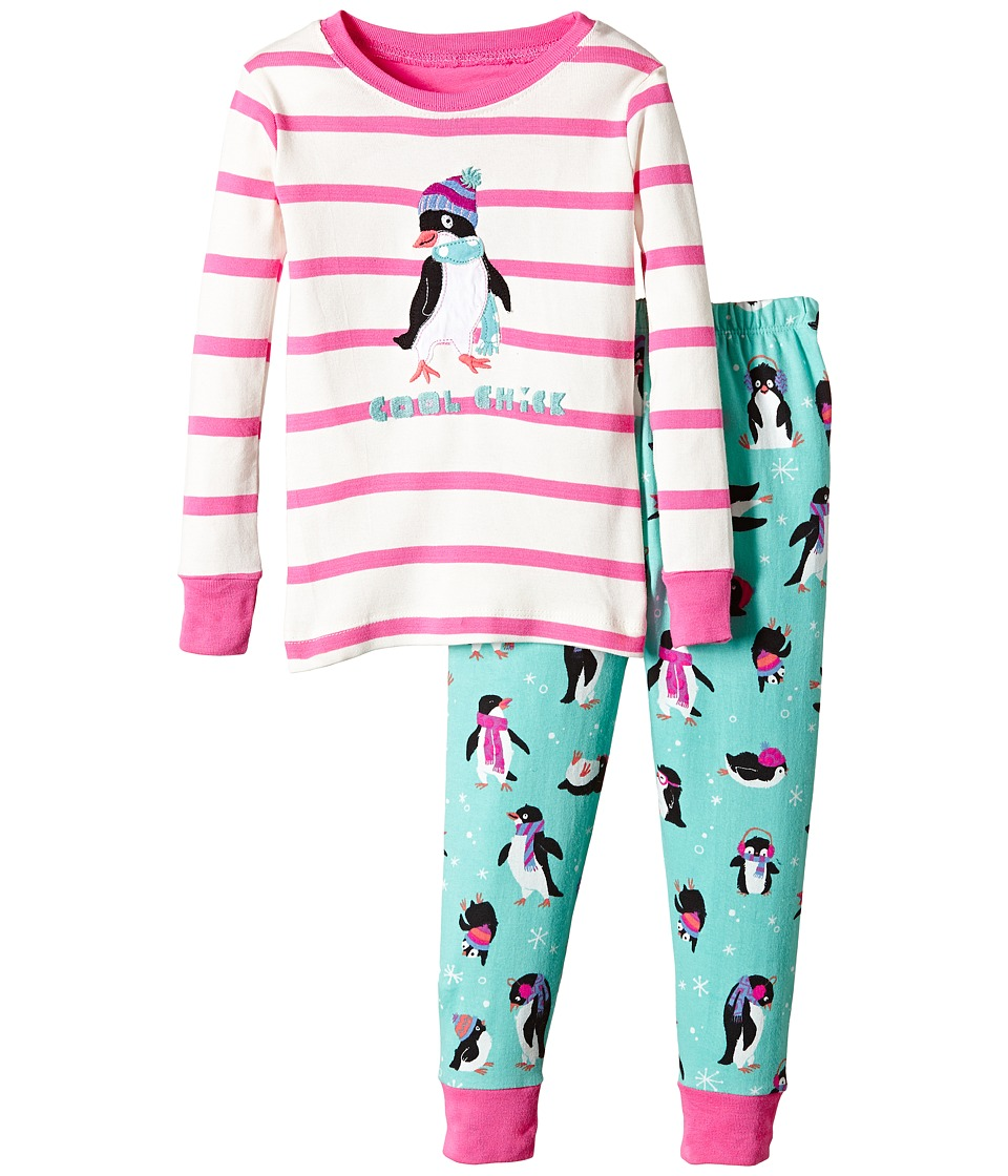 Hatley Kids - Cool Penguins PJ Set (Toddler/Little Kids/Big Kids) (Multi) Girl's Pajama Sets