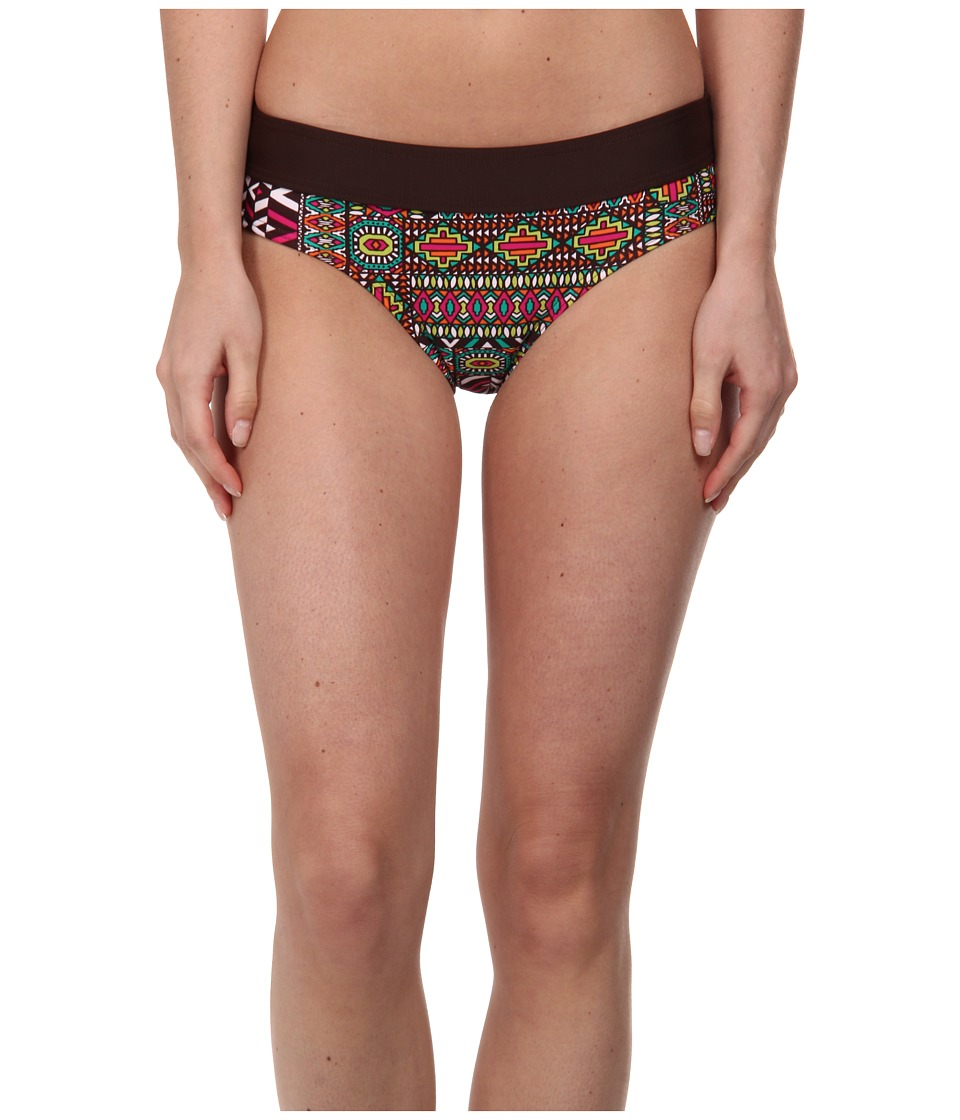 Prana - Ramba Bottom (Espresso Patchwork) Women's Swimwear