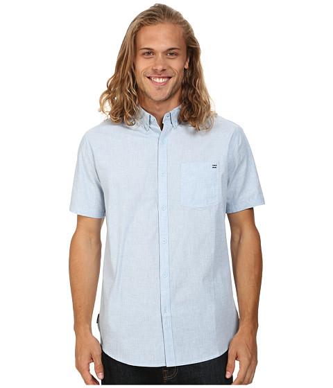 Billabong - All Day Short Sleeve Button Up (Light Blue) Men