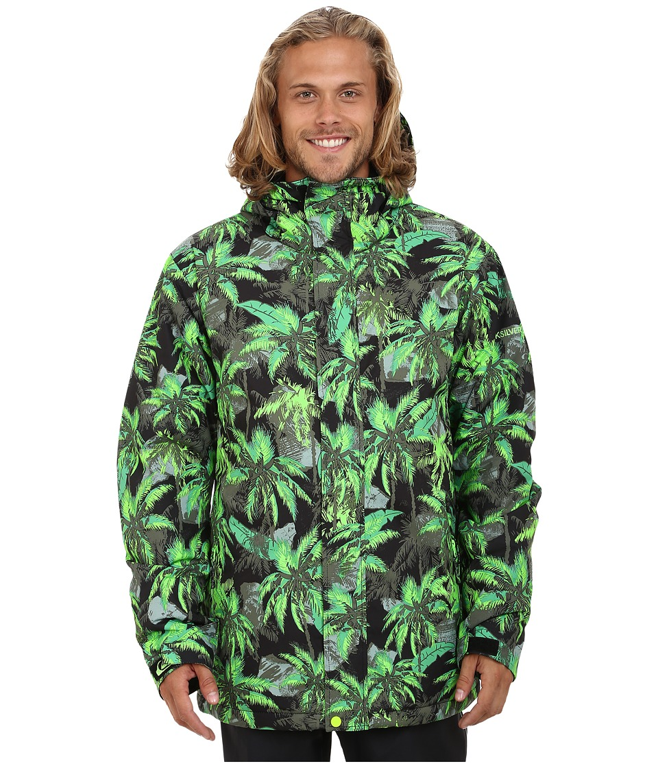 Quiksilver - Mission Printed Snow Jacket (Lime Punch) Men