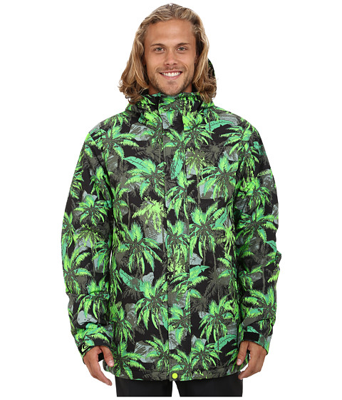Quiksilver - Mission Printed Snow Jacket (Lime Punch) Men's Coat