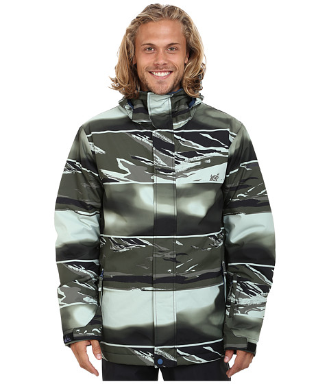Quiksilver - Mission Printed Snow Jacket (Dusty Olive) Men's Coat