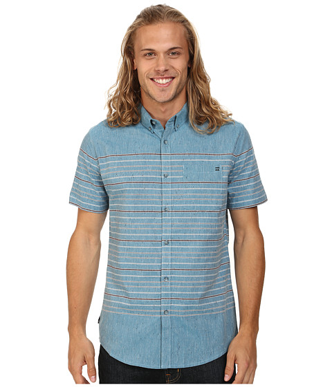 Billabong - Venice Short Sleeve Button Up (Washed Blue) Men's Short Sleeve Button Up
