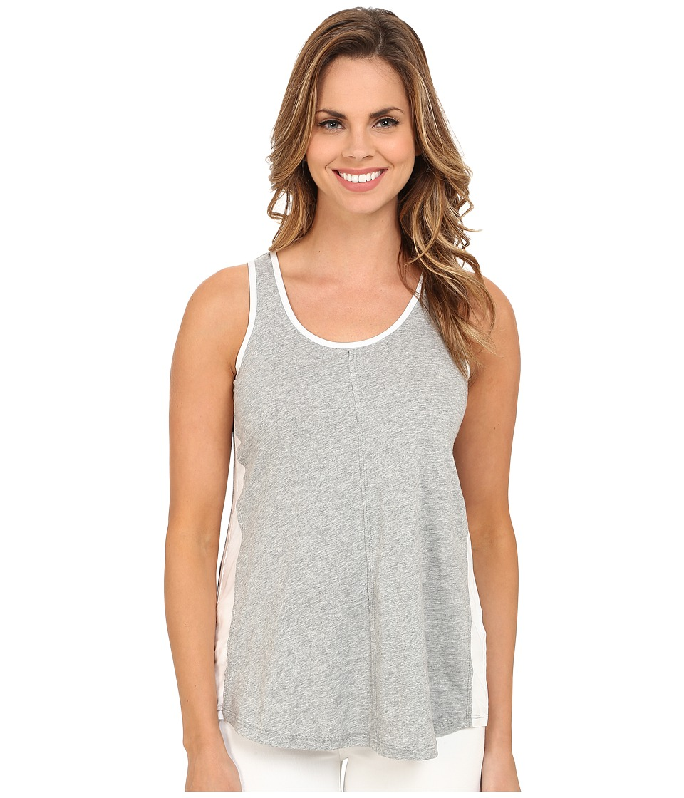 Mod-o-doc - Supreme Jersey Contrast Side Panel Tank Top (Smoke Heather) Women's Sleeveless