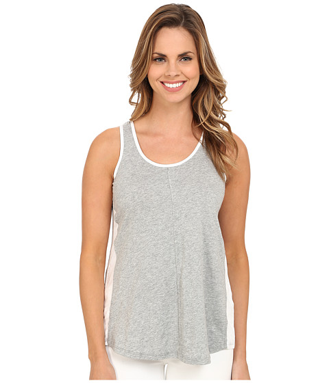 Mod-o-doc - Supreme Jersey Contrast Side Panel Tank Top (Smoke Heather) Women