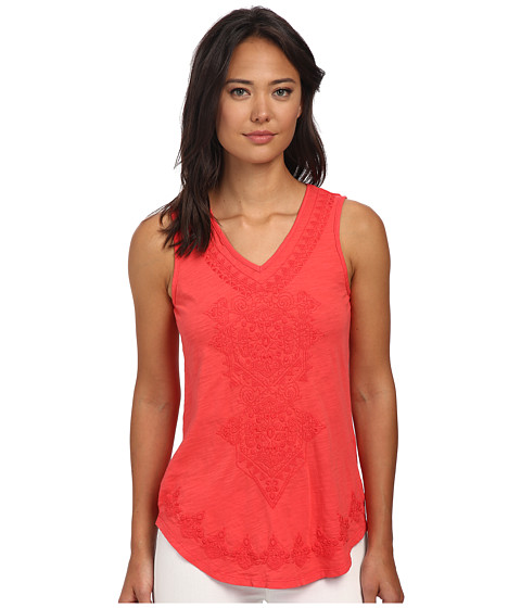 Mod-o-doc - Slub Jersey Embroidered V-Neck Tank Top (Tutti Frutti) Women