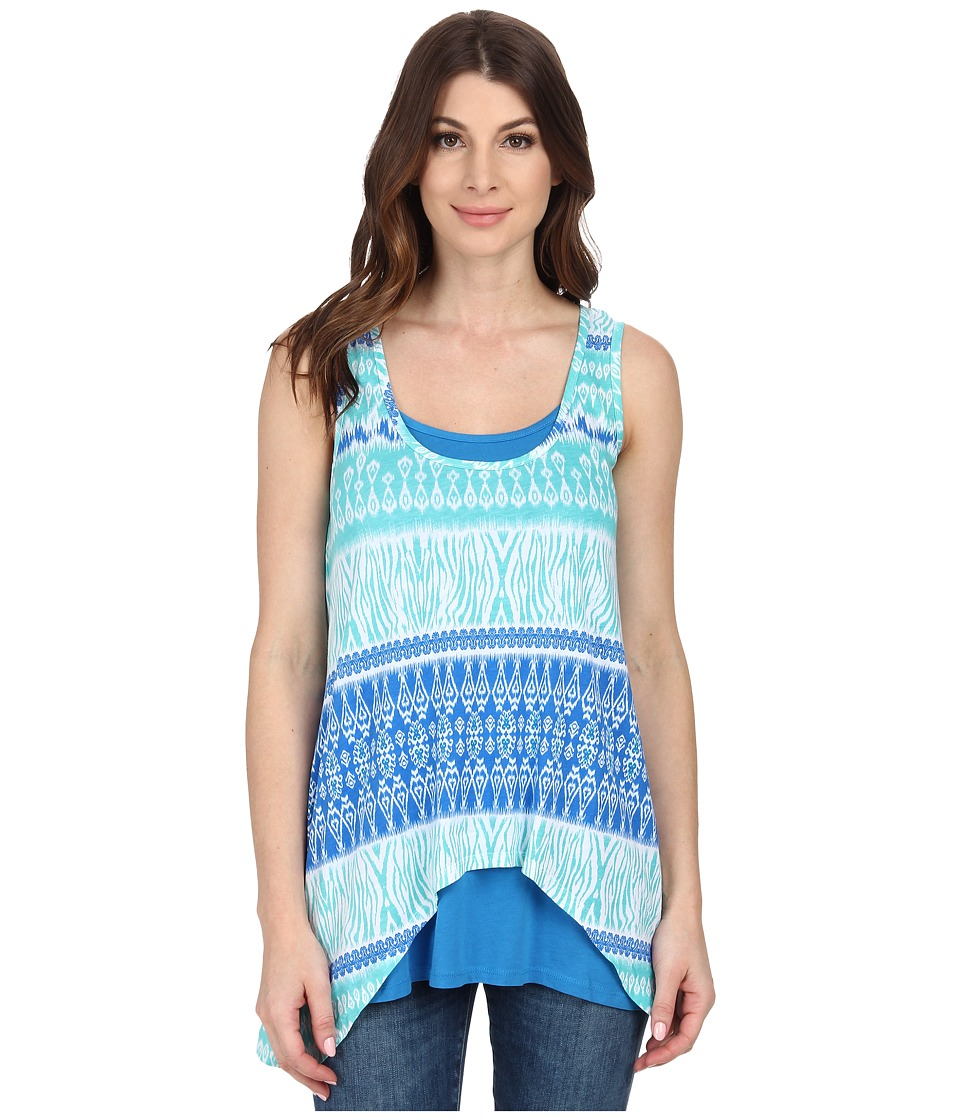 Mod-o-doc - Cotton Modal Jersey Double Layerswing Tank Top (Atlantic) Women's Sleeveless