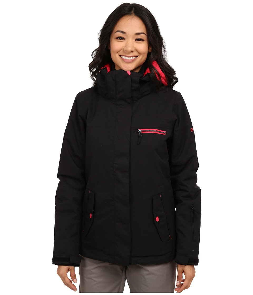 Roxy - Jetty Solid Snow Jacket (Anthracite) Women's Coat