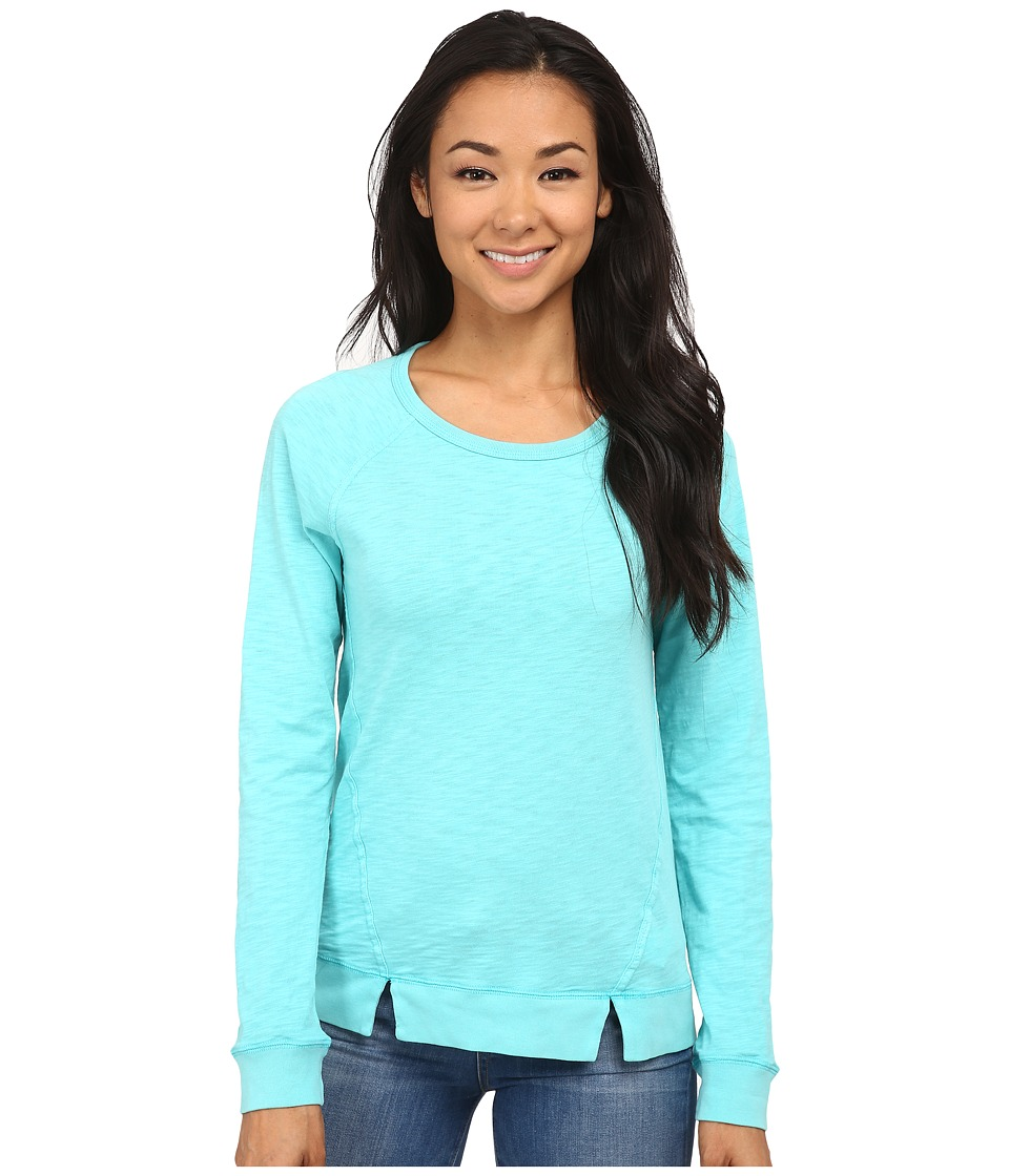 Mod-o-doc - Heavier Slub Jersey 3/4 Sleeve Pullover with Back Shirring (Atlantic) Women's Long Sleeve Pullover