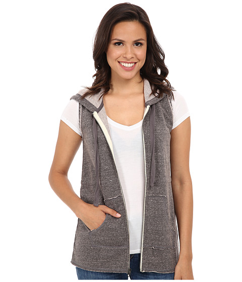 Mod-o-doc - Zip-Front Hooded Vest (Grey) Women's Vest