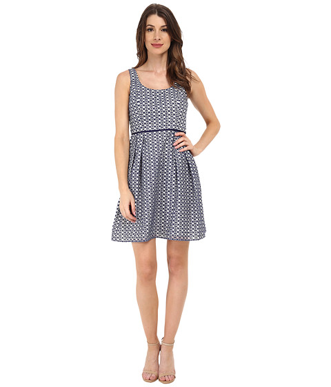 Shoshanna - Svetlana Dress (Navy/White) Women's Dress