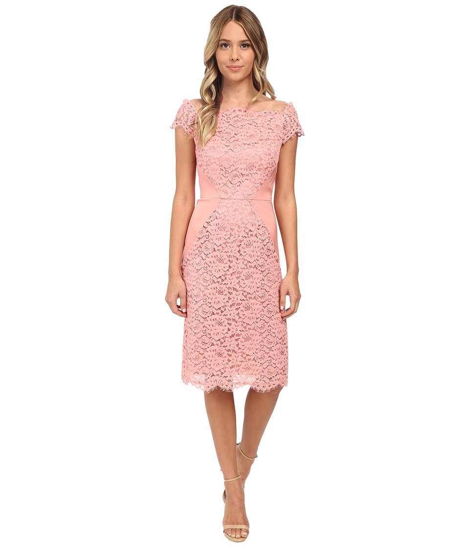 Shoshanna - Marcela Dress (Peach) Women's Dress