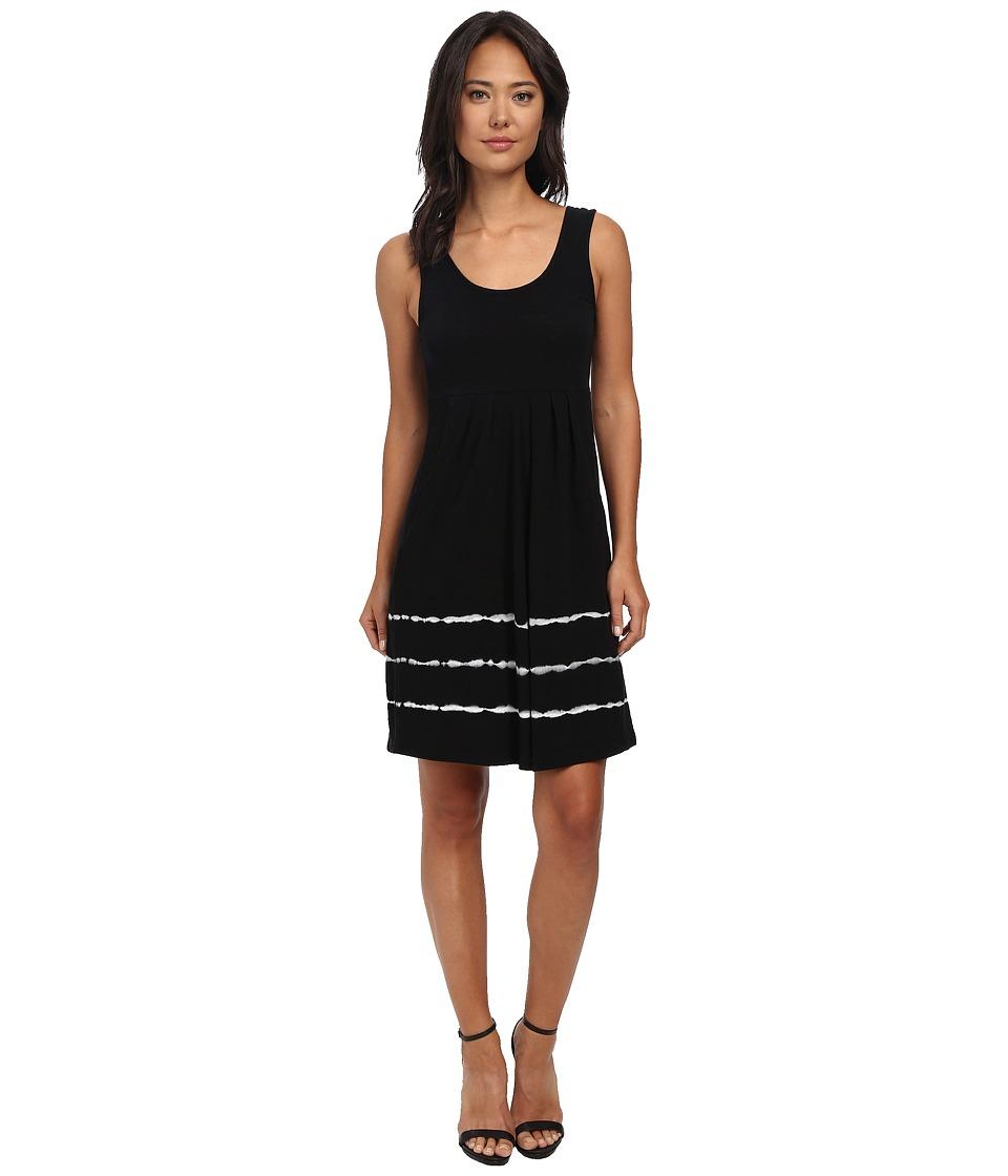 Mod-o-doc Tie-Dye Stripe Tank Dress (Black) Women